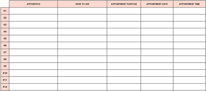 appointment tracker