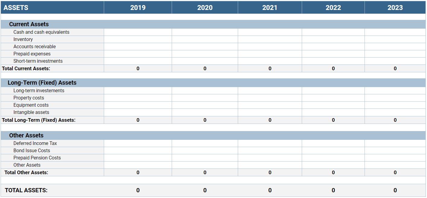 Balance Sheet Template Clockify