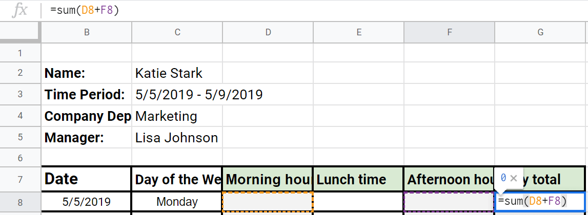 daily working hours formula preview image