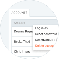Extra features in Clockify - Manage accounts
