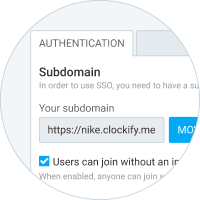 Extra features in Clockify - Custom subdomain