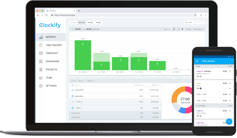 Clockify FLSA compliant timekeeping software