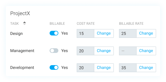 Set up hourly rates for billable hours calculator