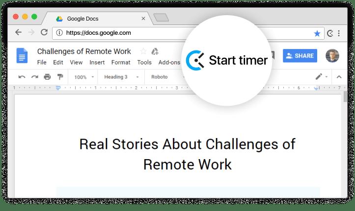 Google Docs Time Tracking Integration - Clockify
