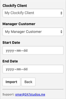 Manager.io time tracking - associate profiles
