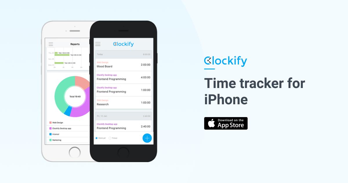 free iphone ipad time tracking app clockify