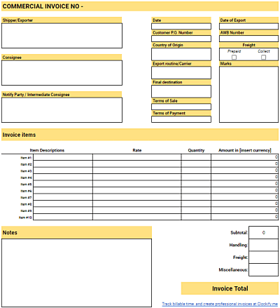 Free Invoice Templates For Freelancers Clockify