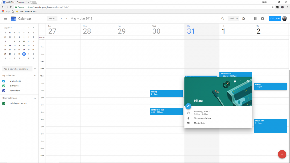 Best productivity tools: Google Calendar