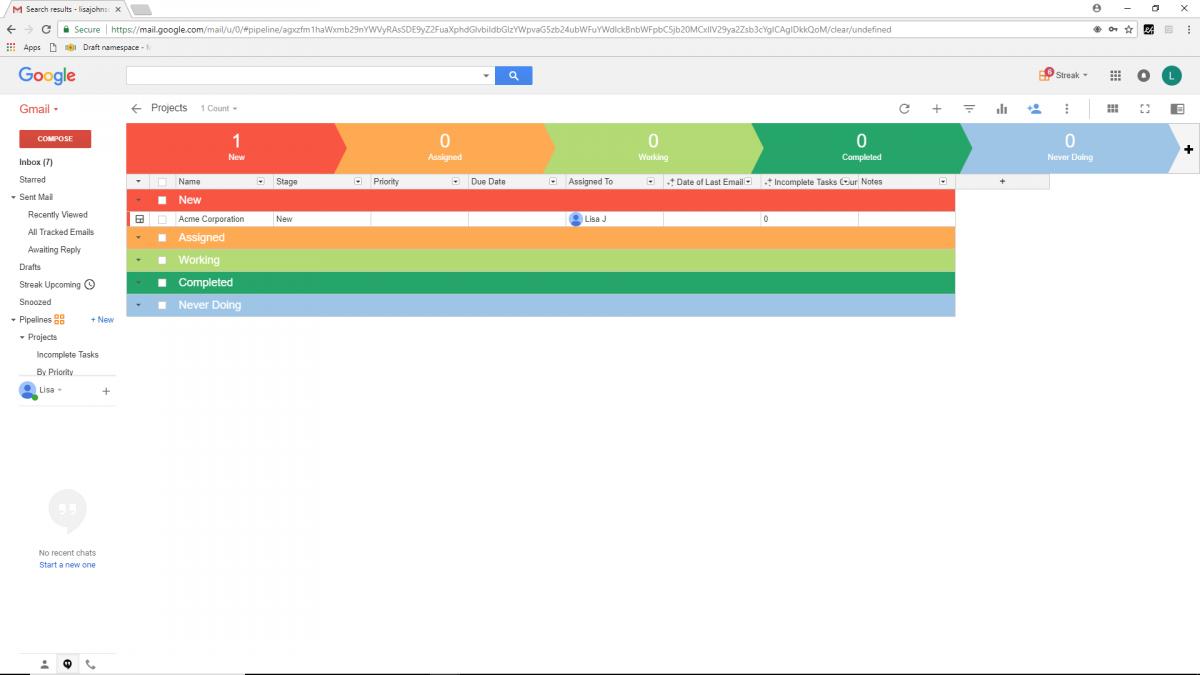 Best productivity tools: Streak for Gmail