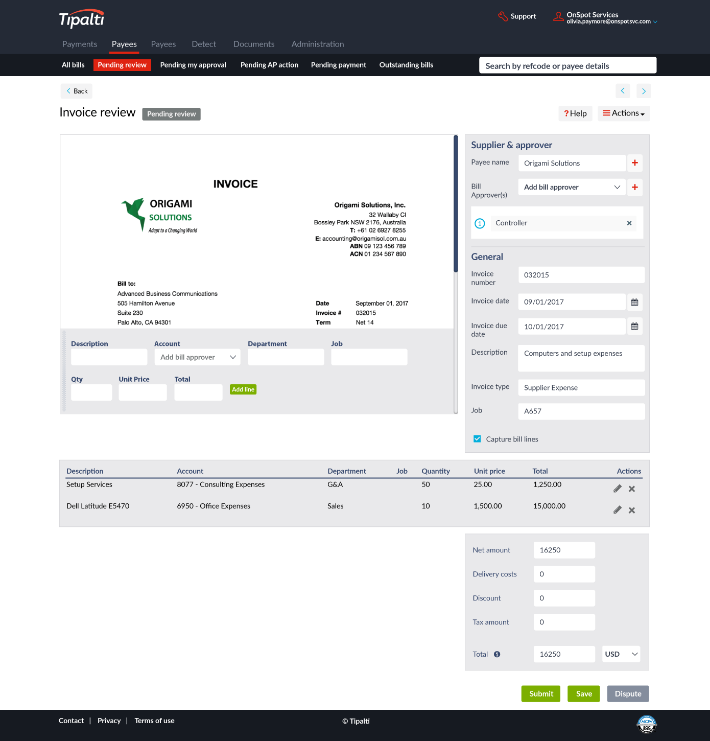 Tipalti-touchless-OCR-invoice-processing