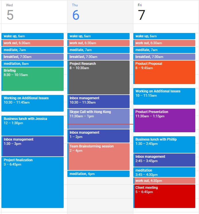 Complicated Calendar Schedule