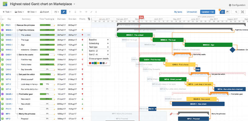 BigGantt Jira plugin screenshot