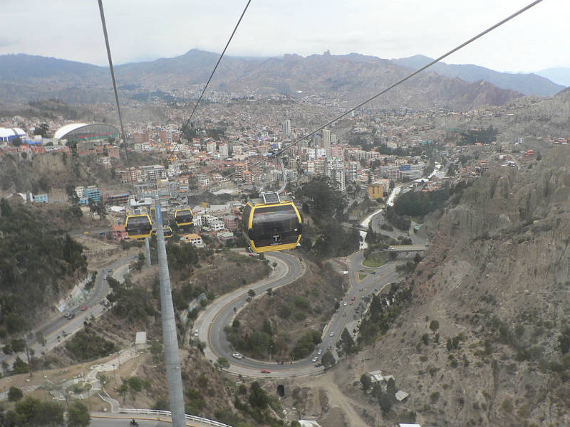 La Paz Teleferico yellow line by Grullab