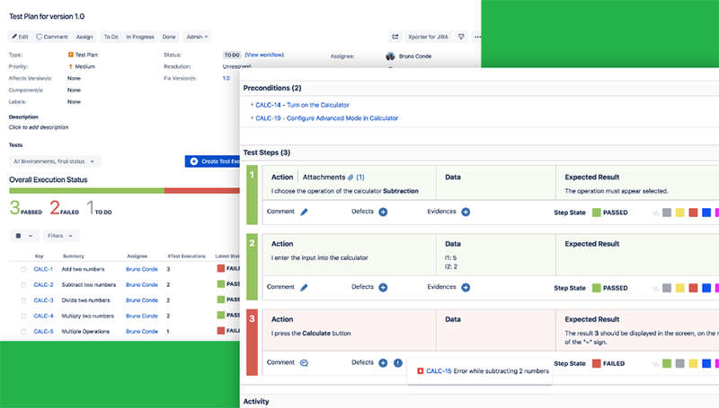 XRAY Jira plugin screenshot