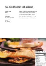 Pan-fried Salmon with Broccoli recipe