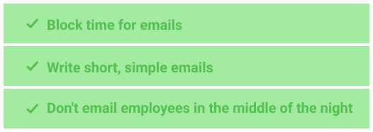 Optimize emailing