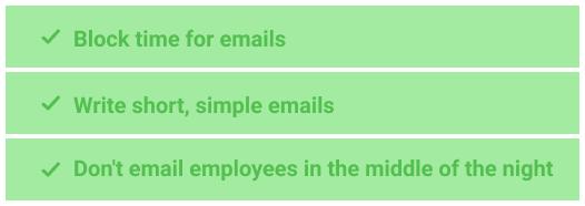Optimize emailing