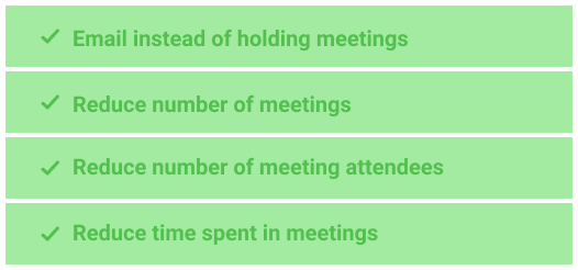 Optimize meetings