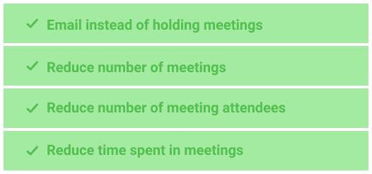 Optimize meetings
