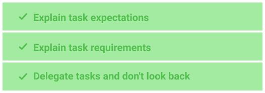 Stop micromanagement in task delegation