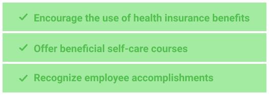 Encourage self-care