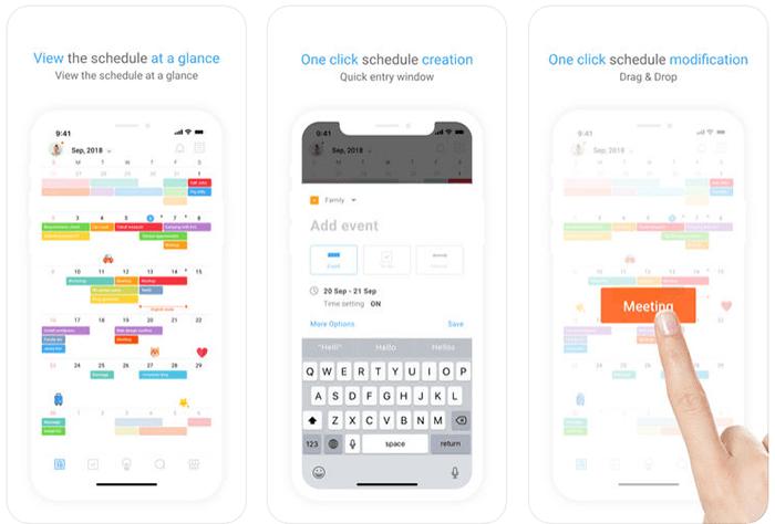 Timeblocks mobile planner