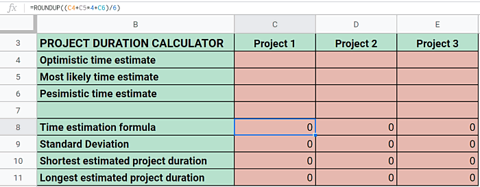 Project Duration Calculator
