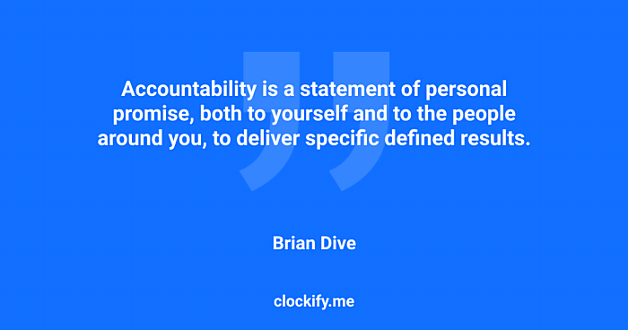 Quote about accountability