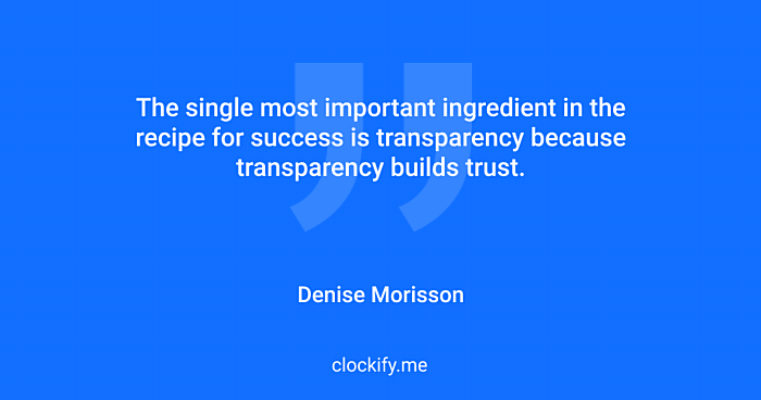 Quote about transparency