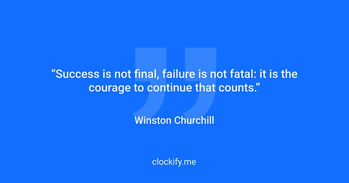 Winston Chruchil quote