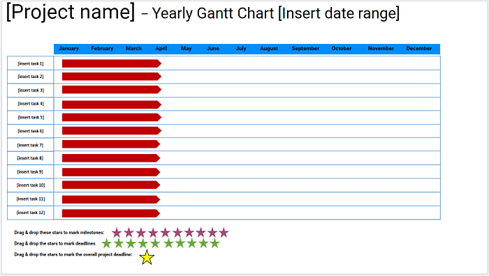 Yearly Gantt Chart