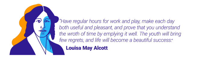 Louisa May Alcott quote about time