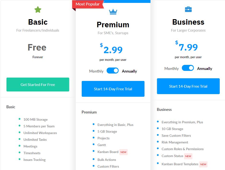 ntask pricing