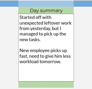 workday summary