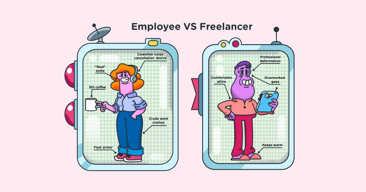 Employee vs freelancer - social
