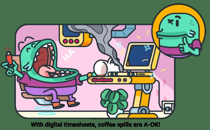 Digital vs print timesheet - cover