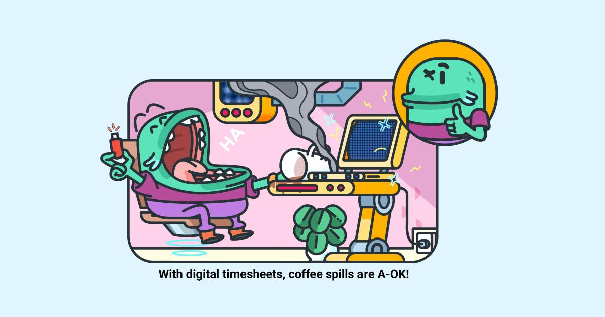 Digital vs print timesheet - social