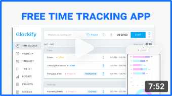 free time tracking app demo