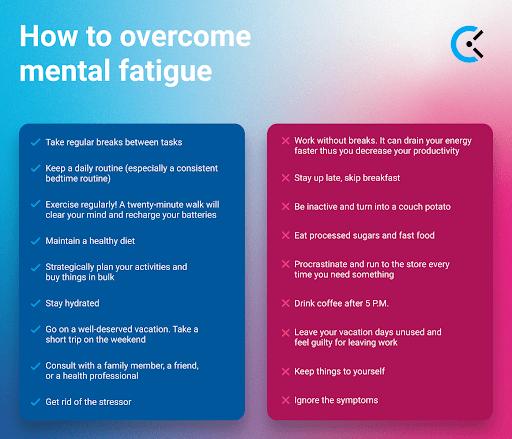 overcome mental fatigue