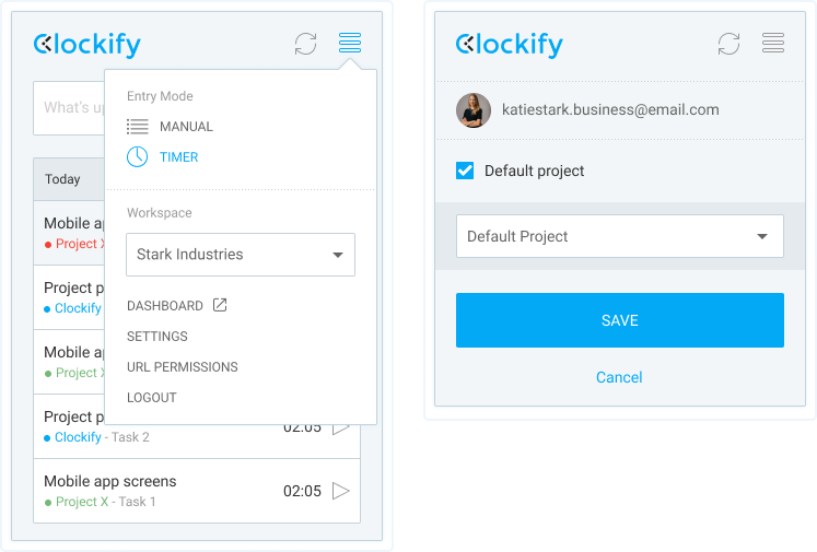 Browser extension – Clockify Help