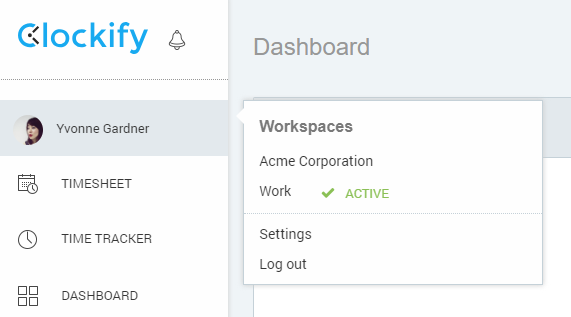 switch workspace