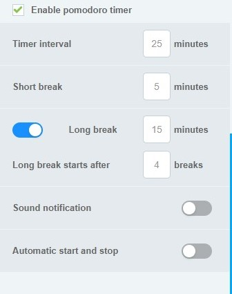 Idle detection, Pomodoro, and reminders – Clockify Help